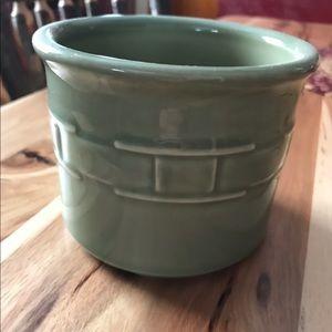 Longaberger crock sage green